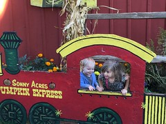 """Paul and Inde in the Sonny Acres Pumpkin Express • <a style=""""font-size:0.8em;"""" href=""""http://www.flickr.com/photos/109120354@N07/23224634925/"""" target=""""_blank"""">View on Flickr</a>"""