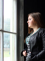The sun watches... (McKenzie's Photography) Tags: school light woman building window senior girl look lady female book student texas child view natural tx seat daughter young indoor highschool read study teen reflect rockwall