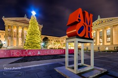 Philadelphia Museum of Art (Dante Fratto Photography) Tags: christmas philadelphia skyline cityscape cityscapes christmaslights philly schuylkillriver artmuesum springgardenstbridge wwwdantefrattophotographycom wwwdantefrattocom