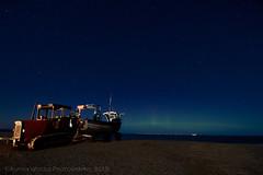 Weybourne (Woodsy999) Tags: beach night canon boat fishing norfolk shingle aurora fishingboat northernlights borealis weybourne