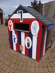 Best bin... ever (stevenbrandist) Tags: sea man neglect norfolk litter wife domesticviolence punchandjudy pinewoods wellsnextthe