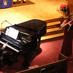 Flute and piano performance.