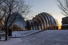 Sound of Silence (KC Mike D.) Tags: arts performing building architecture design shell arch kauffmancenterfortheperformingarts music symphony snow winter park grass january