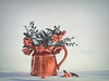Women and cats will do as they please, and men and dogs should relax and get used to the idea.😀 (z_a_r_a) Tags: berries still life jug red white grey sage faded muted vintage sigma 50mm f14 nikon d750 soft pastel light 52 weeks 2017 he