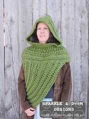 HuntressCowlHooded05c (zreekee) Tags: crochet sparkledoomdesigns saskatchewan mammadiy katniss hungergames