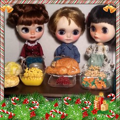 Flickr Advent Group & December Blythe-a-Day#23: Favorite Holiday Book or Story&#28: Favorite Holiday Moment: Juliette, Scout & Alyosha
