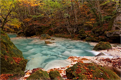 Urederra [EXPLORE] (guillaumez.wix.com/photographie) Tags: sparkling urederra nacedero baquedano turquoise blue forest automne autumn navarre espagne waterscape longexposure