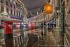 Regent Street, London on a wet Sunday night (Splendid What) Tags: doublepillarbox lighttrails london nightscene nightshot pavementreflections pillarbox postbox rain regentstreet wet