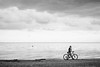 (red line highway) Tags: everyday life people motion movement street social documentary city nikon stpetersburg russia санктпетербург россия photography blackandwhite monochrome urban 35mm bicycle man sky clouds sea shore beach