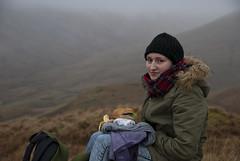 Ben Challum (mmcad) Tags: munro scotland mountain ben challum strathfillan tyndrum highlands hiking walking lunch portrait fog mist hills marsh girl winter january