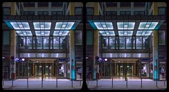 Central Berlin / Q 205 / Cross View / Stereoscopy / HDR / Raw (Stereotron) Tags: europe germany berlin spreeathen mitte metropole hauptstadt capital metropolis brandenburg city urban architecture contemporary modern modernism availablelight night nocturnal reminescence crosseye crosseyed crossview xview cross eye pair freeview sidebyside sbs kreuzblick 3d 3dphoto 3dstereo 3rddimension spatial stereo stereo3d stereophoto stereophotography stereoscopic stereoscopy stereotron threedimensional stereoview stereophotomaker stereophotograph 3dpicture 3dglasses 3dimage twin canon eos 550d yongnuo radio transmitter remote control kitlens 1855mm tonemapping hdr hdri raw