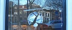 what to do with broken crockery (muffett68 ☺☺) Tags: creative brokencrockery windchimes reflections window