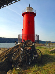 IMG_0554 Surly Pacer at Little Red Lighthouse (Mr Flikker) Tags: georgewashingtonbridge newyorkcity manhattan underneath ground bikepath surly pacer