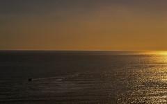 End of the Day (Re-Edit) (JDWCurtis) Tags: swansea swanseabay sea boat ship sun sunset sundown horizon wales southwales orange glow gold golden goldenhour bodyofwater ocean trail silhouette