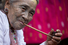 Tattooed woman, Chin State (mgirard011) Tags: asie chinstate lieux myanmarbirmanie kanpetlet mm 100faves