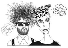 Eurythmics (Rick Tulka) Tags: eurythmics annielennox davestewart caricature pencil drawing