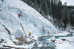 Rock Climbers (Margarita Genkova) Tags: johnstoncanyon alberta banffnationalpark rockclimbing frozen river landscape nature icicles rocks dangerous brave