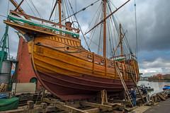 On the slip...... (Dafydd Penguin) Tags: slip hard ship vessel boat classic traditional sailing matthew john cabot bristol historic dloating harbour harbor port dock water sea shipyard west country sail shipwright nikon df nikkor 20mm af f28d