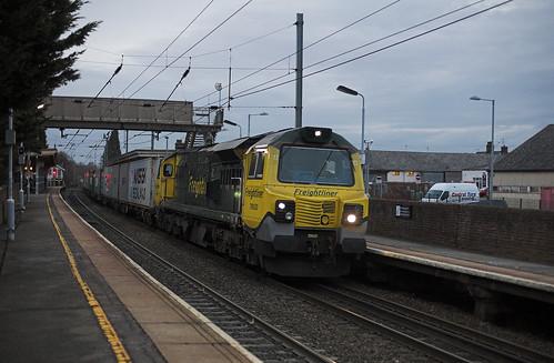 70020 at Stowmarket