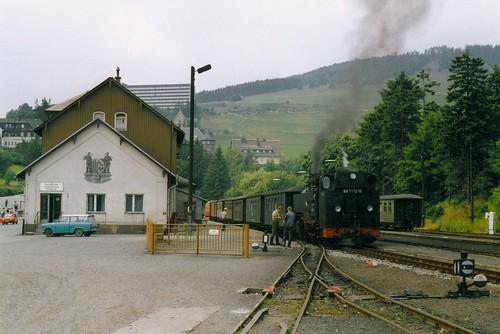 DR: Dampflok 99 1772-5 im Bahnhof Kurort Oberwiesenthal (893 m)