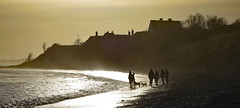 Silhouettes on the beach (Halfbike) Tags: alnmouth beachwalking seaside lumixgh4