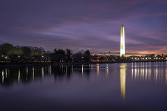 a winter's tale (dK.i photography) Tags: washingtondc winter tidalbasin washingtonmonument reflections bluehour sunrise predawn cold outdoors lowlight longexposure clouds water sliderssunday