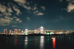 000034750034 (WayChen_C) Tags: canon a1 film fujifilm natura1600 japan tokyo minatoku odaiba night cityscape rainbowbridge statueofliberty 日本 東京 港区 お台場 御台場 台場