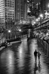Following the shadow of love-Explored (mark-marshall) Tags: chicago riverwalk nightime couple shadows reflections nikon cliche hcs nikon35mmf18gafsdx prime explored