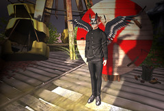 Wondering if this is a good idea!? (Niki Wirefly) Tags: fae fairy fairey faerie male fantasy dark colour secondlife wings niki sl gothic