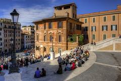 Roma n°27 - scorcio di Piazza di Spagna (Roberto Defilippi) Tags: 2017 242017 rodeos robertodefilippi roma rome piazza scalinata cityscape