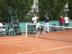 Gael Monfils and Thierry Champion (tennis buzz) Tags: tennis gael frenchopen monfils gaelmonfils frenchopen2006 tennisbuzz