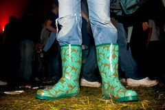 raver wellies #05 (lomokev) Tags: color colour green feet festival leaf pattern legs boots low ground rubber jeans wellingtonboots wellies hifi galoshes wellingtons gumboots rainboots wellingtonboot ratseyeview hififestival filecrw5818