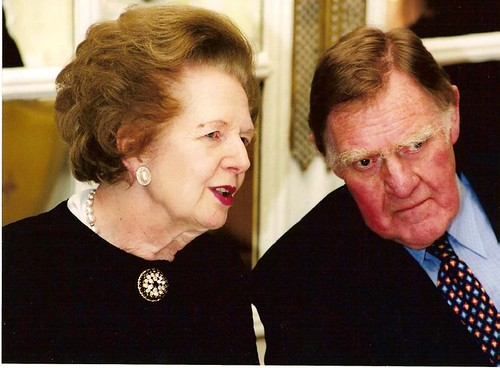 Bernard Ingham and Margaret Thatcher