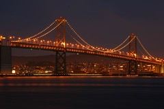 Bay Bridge/S.F, from Treasure island (4PIZON) Tags: sf sanfrancisco longexposure bridge night canon bay treasureisland goldengatebridge baybridge 5d keepers 4pizon sfchronicle96hours