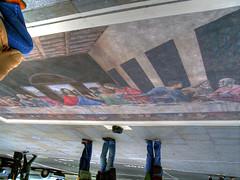 The Last Supper (charlo82) Tags: road street trip portrait england london art museum last painting square paint artist upsidedown jesus trafalgar trafalgarsquare ground down national journey da leonardo supper vinci cena nationalmuseum upside ultima lultima cenacolo lastsupper leonardodavinci gesù cene lultimacena