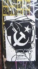 Porky the Commie by BAST and Brighton (Reid Harris Cooper) Tags: pig bast wheatpaste wb communism porky warnerbrothers looneytunes skewville porkypig thatsallfolks