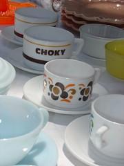 teacups at the Marche aux Puce - Port de Vanves (Ted Drake) Tags: city travel ted paris france june jim 2006 top10