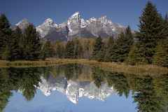Schwabacher's Landing (randy_harris) Tags: lake mountains reflections pond wyoming grandtetons jacksonhole