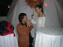 Do you want to marry me (Pat Rioux) Tags: people circus staff artists acrobats cirque cirquedusoleil dralion aroundtheworld europeantour