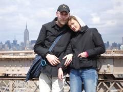 Skyline von der Brooklyn Bridge (Compuccino) Tags: newyork skyline manhattan urlaub brooklynbridge empirestatebuilding maike klas selbstauslser