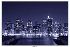 The Stars over the City (Arnold Pouteau's) Tags: nyc newyorkcity newyork skyline night river downtown manhattan f50 spot1 twtmeblogged frombrooklynheights fiveflickrfavs nyc10