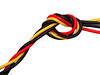 Twisted power (Rune T) Tags: red black macro yellow electric computer power cable knot wires twisted whiteground molex themeelectric