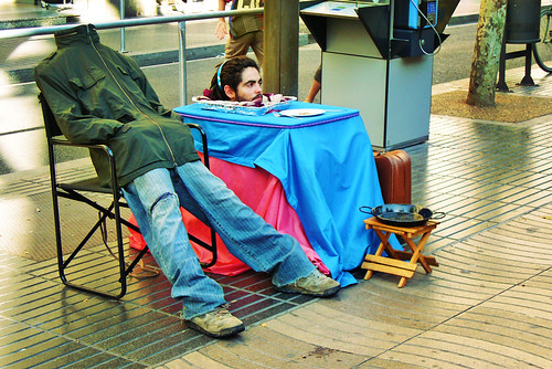 Barcelona: Street Performers on Las Ramblas