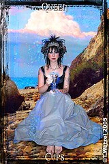 Queen of Cups (ArtGrrl Productions) Tags: ocean sea rocks feminine queen divine deck cups tarot chalice