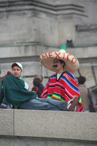 Mexican fans in Berlin