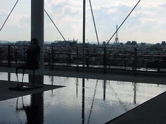 Eiffel View From Pompadu (Nola Nate) Tags: sculpture paris france fountain museum eiffeltower muse museumofmodernart pompadu