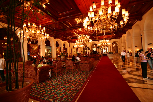 Lobby of Manila Hotel, photographed in 2006