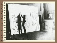 Notebook - Picasso working in Antibes