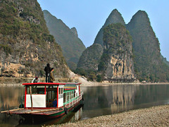 Lijiang River, Yangshuo, China (Pat Rioux) Tags: china mountains yangshuo lijiang 5hits