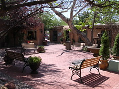 Patio escondido Albuquerque Nuevo Mexico USA